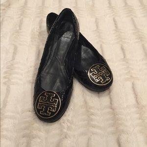 Tory Burch Reva Quinn Ballet Flat-Patent Size 8.5